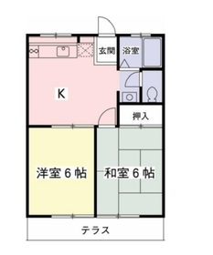 ハイムカルミア1階Fの間取り画像