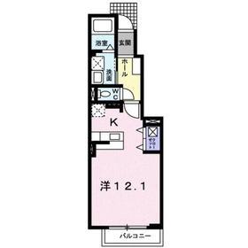 サニーレジデンス1階Fの間取り画像