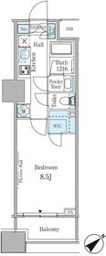 ルビア赤坂7階Fの間取り画像