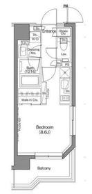 ザ・パークハビオ神楽坂香月2階Fの間取り画像