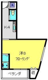 加賀美自動車ビル2階Fの間取り画像