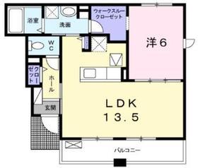 ラフレシールⅢ1階Fの間取り画像
