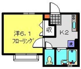 メゾンエミネンスC2階Fの間取り画像