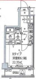 スクエアシティ横浜鶴見2階Fの間取り画像