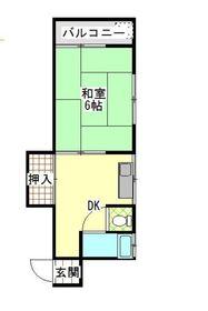 上石神井第2フラッツ2階Fの間取り画像
