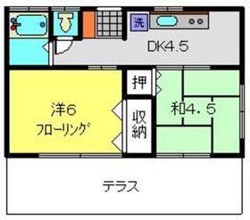 さくら荘7号館1階Fの間取り画像