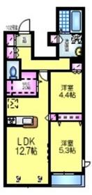 アドラブール1階Fの間取り画像
