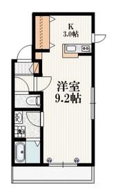 メゾンCYCLE2階Fの間取り画像