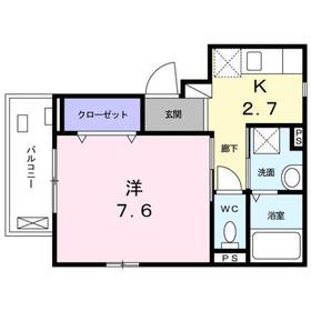 相模大塚駅 徒歩5分2階Fの間取り画像