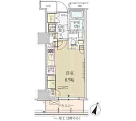 パークアクシス赤坂見附9階Fの間取り画像