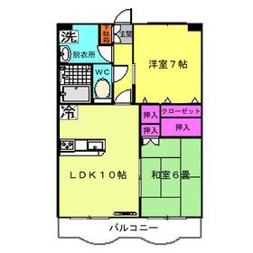 リヴェール6階Fの間取り画像