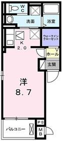 アタラクシア小平1階Fの間取り画像