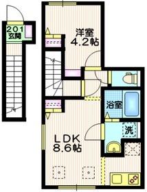 ステラコート2階Fの間取り画像