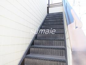 2階のお部屋へはこの階段から♪