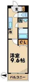 フォンテーヌ雅4階Fの間取り画像