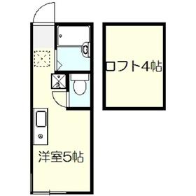 モンステラ戸塚2階Fの間取り画像