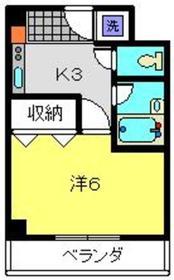 パピリオーテ3階Fの間取り画像