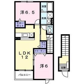 海老名駅 バス13分「寺尾」徒歩4分2階Fの間取り画像