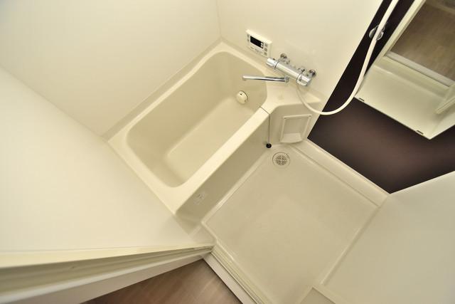 エグゼ今里 ちょうどいいサイズのお風呂です。お掃除も楽にできますよ。