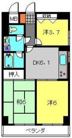 ライオンズマンション羽沢町3階Fの間取り画像