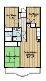 エスポアール高森2階Fの間取り画像
