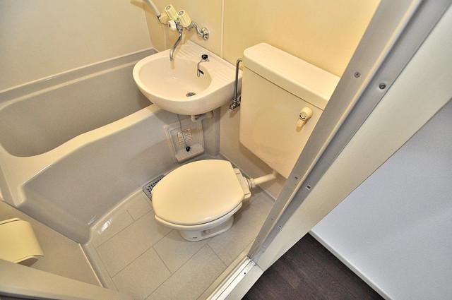 ホワイティ大今里 お風呂・トイレが一緒なのでお部屋が広く使えますね。