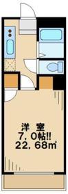マイコート高幡11階Fの間取り画像