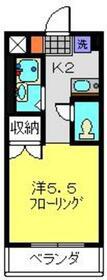 かみはしビル3階Fの間取り画像
