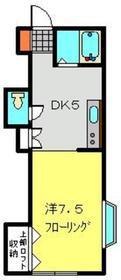 カームフラッツ2階Fの間取り画像