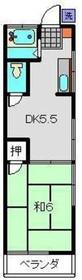 志村アパート2階Fの間取り画像