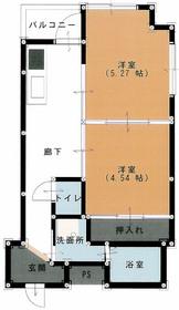 タカシマ両国マンション9階Fの間取り画像