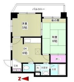 カーメルプラザ217階Fの間取り画像