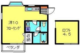 トパーズⅡ2階Fの間取り画像