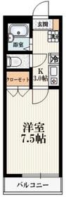 カーサフォレストーネ中野坂上2階Fの間取り画像