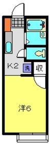 メゾンYOKOHAMA1階Fの間取り画像