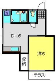 トトノチハイツ1階Fの間取り画像