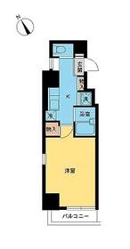スカイコート芝壱番館3階Fの間取り画像
