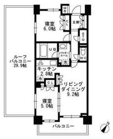 上野毛駅 徒歩25分7階Fの間取り画像