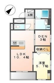 稲田堤駅 徒歩12分2階Fの間取り画像