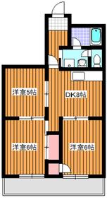 高島平駅 徒歩1分3階Fの間取り画像