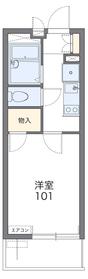 レオパレスHIMAWARI(46878)3階Fの間取り画像