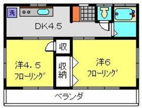 さくら荘2号館2階Fの間取り画像