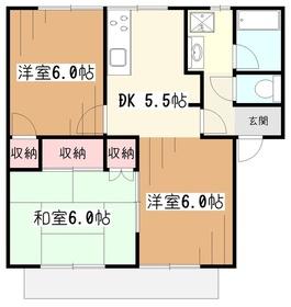ベルメゾンサーバA1階Fの間取り画像