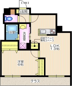 casa passione1階Fの間取り画像