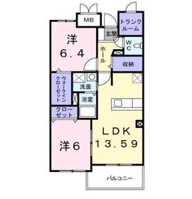 鷺沼駅 バス10分「稲荷坂」徒歩4分1階Fの間取り画像