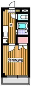 ゼファーコート丸山台2階Fの間取り画像