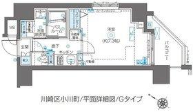 ZOOM川崎second12階Fの間取り画像