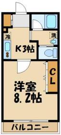 カーサドマーニ1階Fの間取り画像