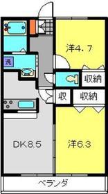 ディアロードTN2階Fの間取り画像