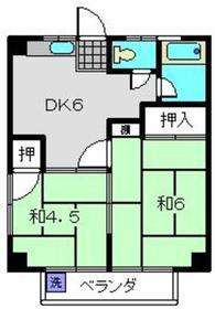 トキワダイマンション4階Fの間取り画像